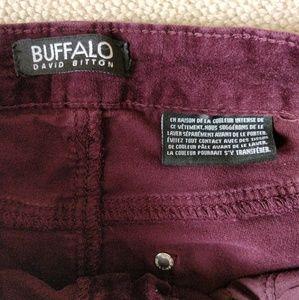Buffalo David Bitton Pants - 4/$25 Buffalo David Bitton Maroon Skinny Pants 4